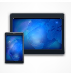 Tablet on white vector