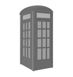 telephone box icon monochrome vector image