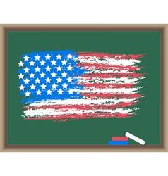 usa on a blackboard vector image vector image