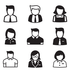useraccount staff employee maid icons vector image