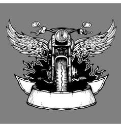 Vintage biker label emblem logo badge vector image vector image