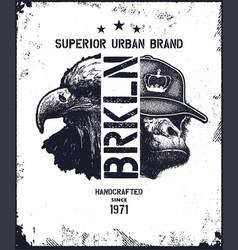 vintage urban typography vector image