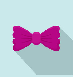 violet bow tie icon flat style vector image