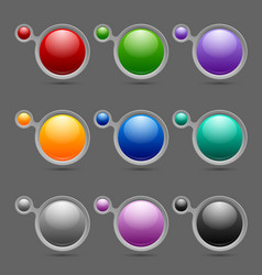 Button or icon template bubbles vector image vector image