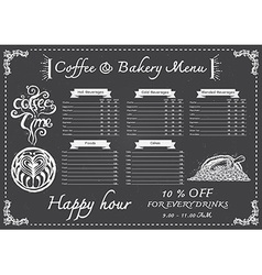 Coffee menu on chalkboard vector image