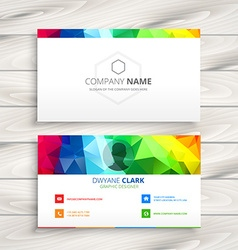 Colorful business card vector
