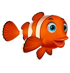 Cute clown fish cartoon vector image vector image