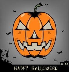 Halloween pumpkin head vector image