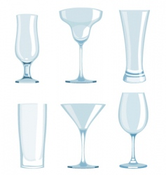 set of glasses vector image