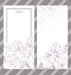Set of invitations with floral background vector image vector image