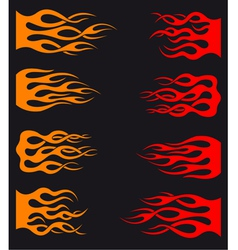 Set of orange and red tribal flames vector image vector image