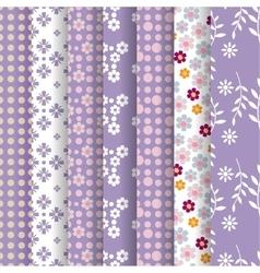 spring lavender seamless pattern vector image
