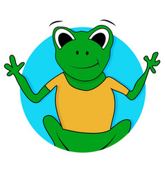 toad and frog icon vector image
