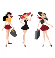travel woman vector image vector image