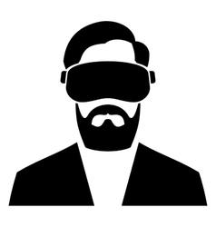 Virtual Reality Headset Icon vector image vector image
