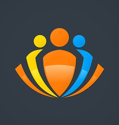 abstract people group logo vector image