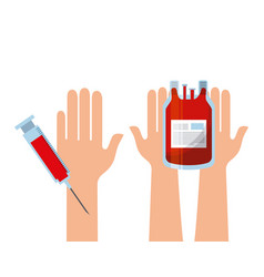 blood bag and injection vector image