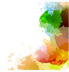 bright colorful paint splatter background design vector image vector image