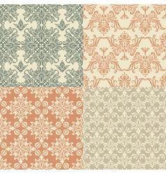 seamless vintage wallpaper patterns vector image vector image