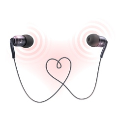 Headphones earplugs poster vector image
