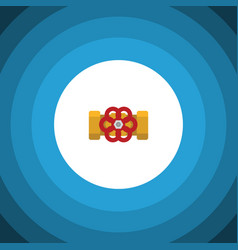 isolated flange flat icon pump valve vector image vector image