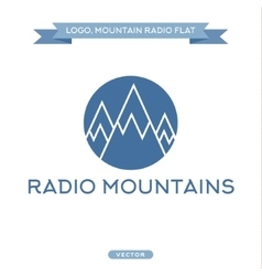Radio signals scale mountains icon flat vector image vector image