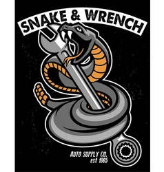 snake with hold the wrench vector image vector image