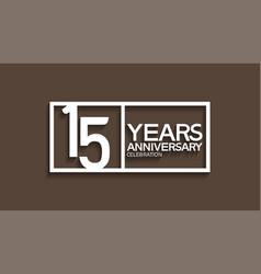 15 years anniversary logotype with white color vector