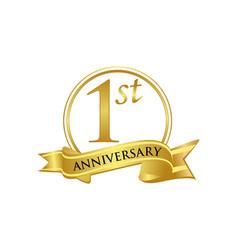 1st anniversary celebration logo vector image