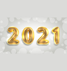 2021 new year poster golden luxury text gold vector image
