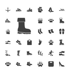 33 foot icons vector