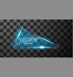 Abstract neon triangle vector