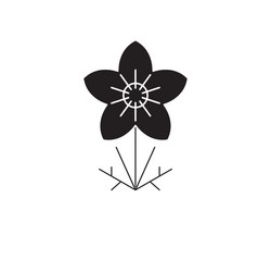 anemone black concept icon anemone flat vector image