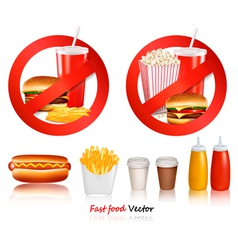 ast food danger labels vector image