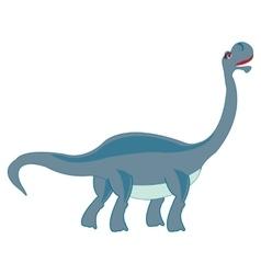 Big herbivorous dinosaur vector