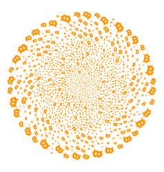 Bitcoin spiral twist vector