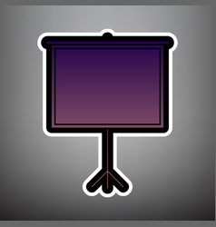 Blank projection screen violet gradient vector