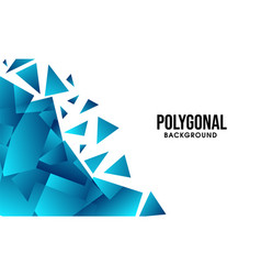 Blue abstract geometrical polygonal background vector