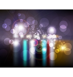 Blurred City Lights Background vector image