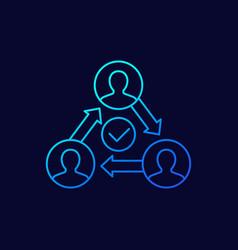 Business agility line icon on dark vector