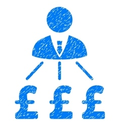 Businessman Pound Expenses Grainy Texture Icon vector