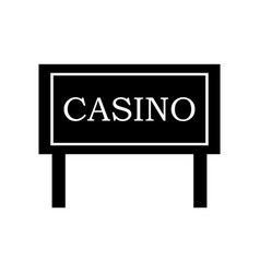 casino signboard icon vector image