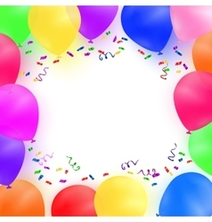 Celebrating background with colorful balloons vector