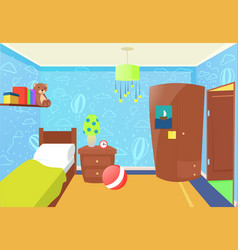 children bedroom interior vector image