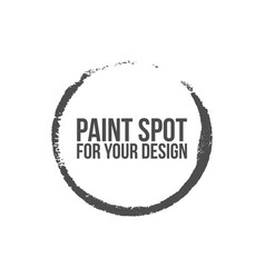circle paint spot vector image