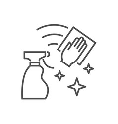 cleaning related thin line icon vector image
