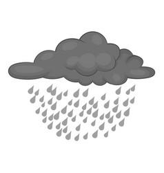Clouds and rain icon monochrome vector