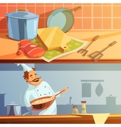 Cooking banners set vector