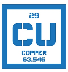 Copper chemical element vector