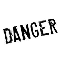 Danger stamp rubber grunge vector